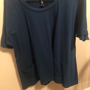 Large New Pocket Pullover Teal Agnes and Dora